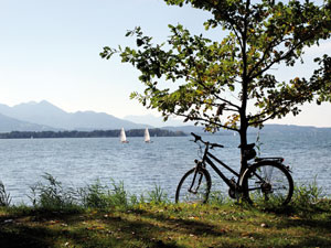 pistes cyclabes au Chiemsee