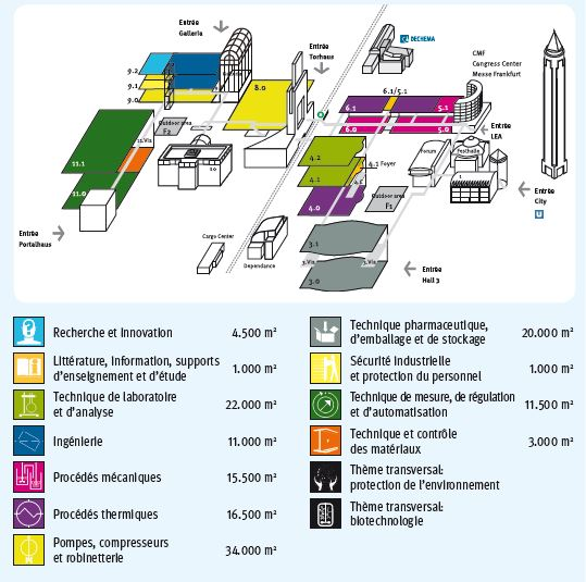 Plan des hall du salon achema<br /><br /><br /><br />